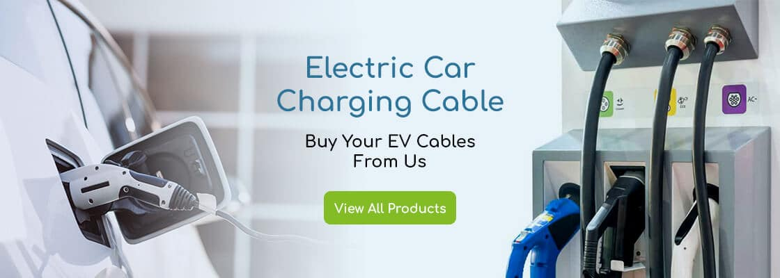 electric car charging cable banner